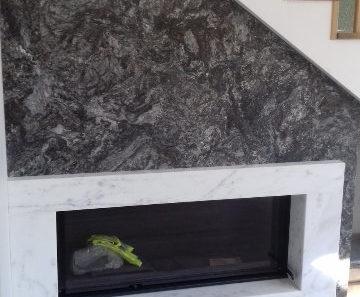 kominek z kamienia lagran